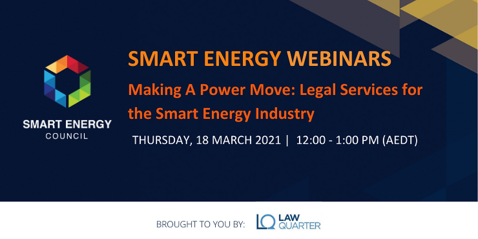 Making A Power Move: Legal Services for the Smart Energy Industry