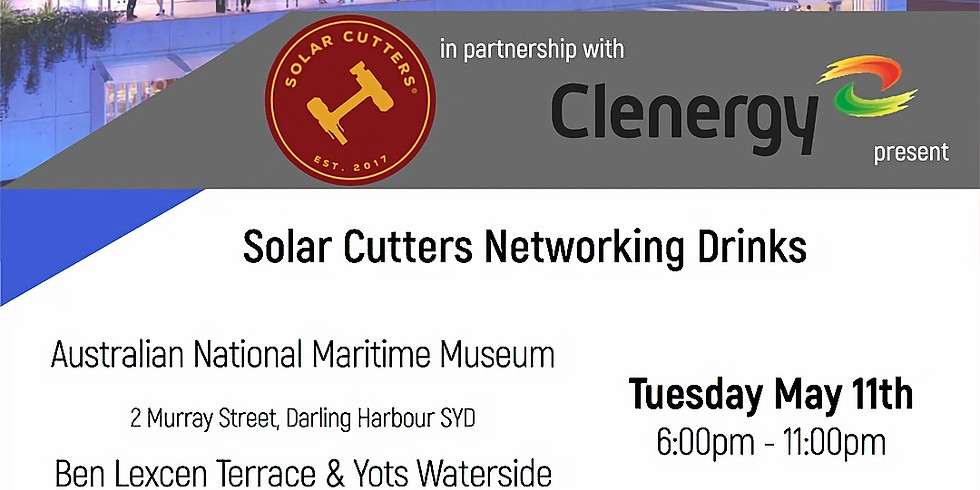 Solar Cutters Networking Drinks