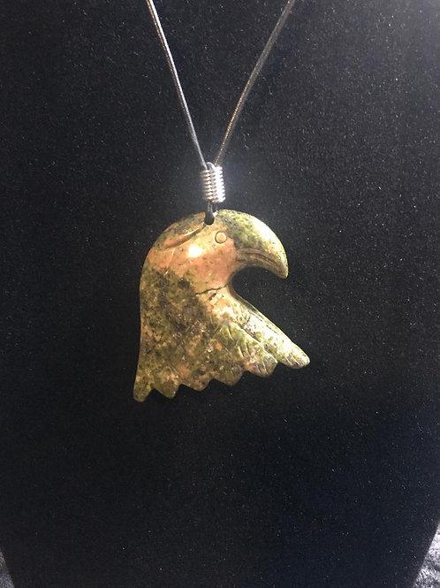Rhodonite Eagle Head Necklace