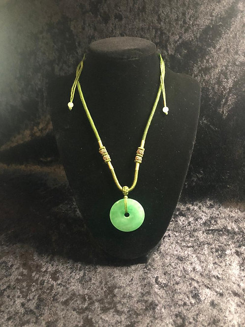 Jade Circle of Life Necklace