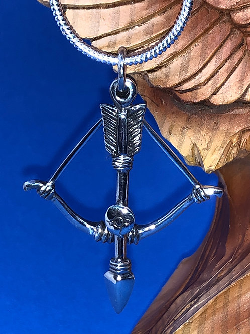 Sterling Silver Bow and Arrow Pendant
