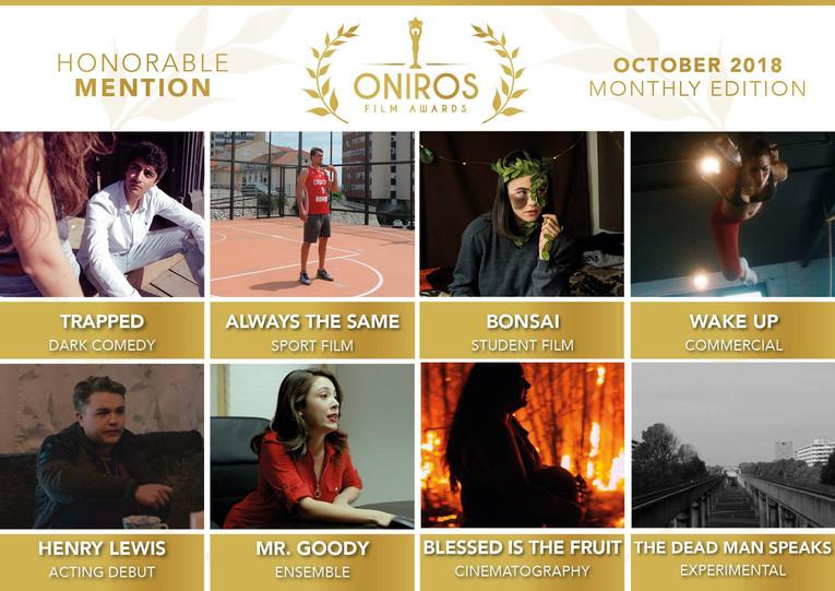 Oniros Film Awards Honorable Mention ( Best Dark Comedy Film )