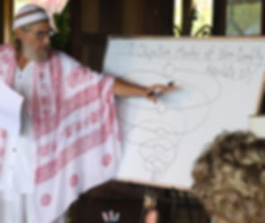 Shunymurti teaching at meditation retreat