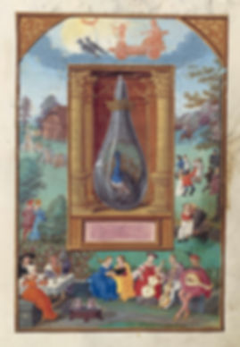 Alchemical painting of transformation