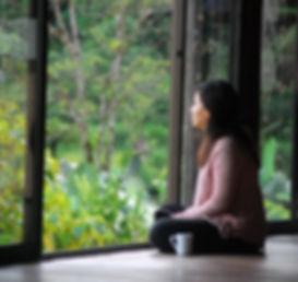 peaceful contenplation after 4am meditation