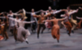 Image from a flamenco production taken from a divine renaissance class