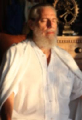 Shunyamurti in meditation at spiritual retreat