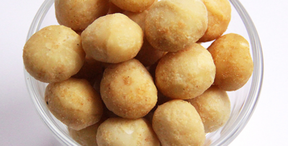 Macadamianüsse, geröstet mit Salz (250g)