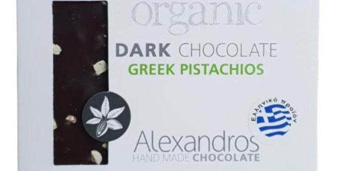 Bio Zartbitter Schokolade mit griechischen Pistazien (90g)
