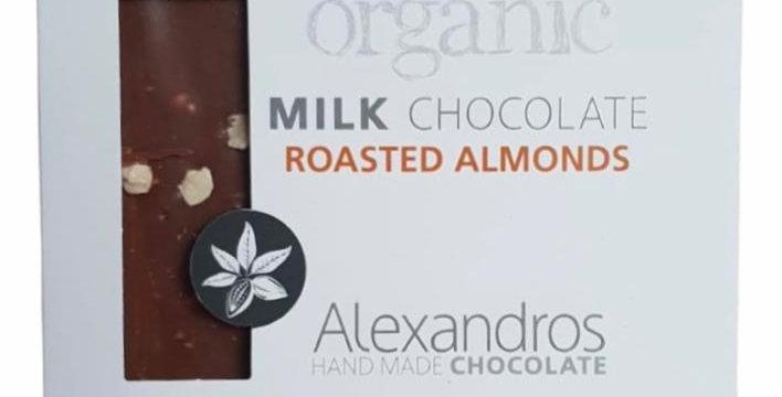 Bio Milchschokolade mit Mandeln (90g)
