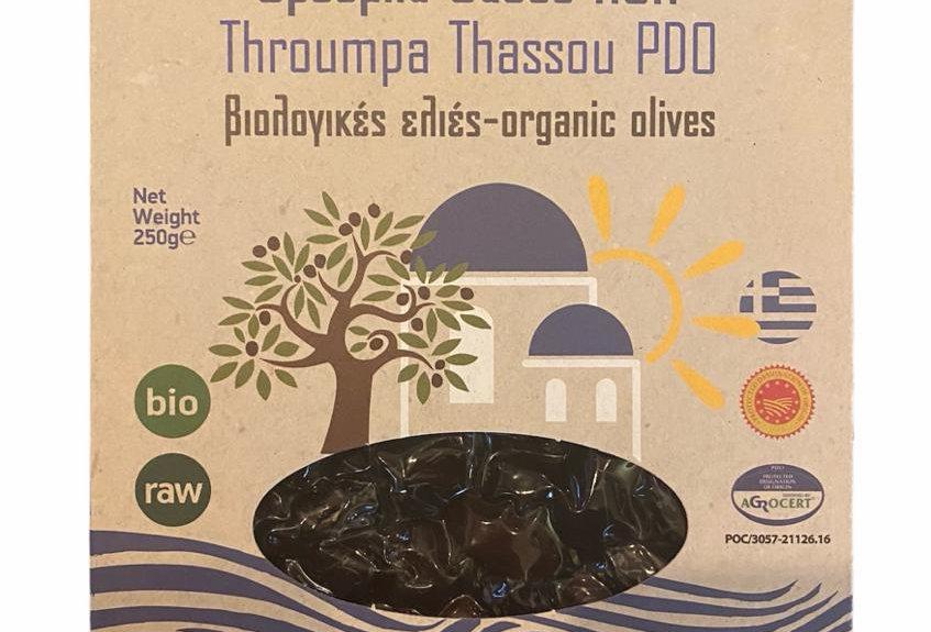 Throumpa Oliven aus Thassos (G.U)  BIO (250g)