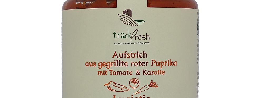 Aufstrich aus gegrillter roter Paprika mit Tomate & Karotte (260g)