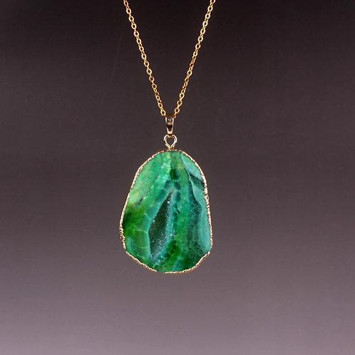 brazilian agate - kelly green