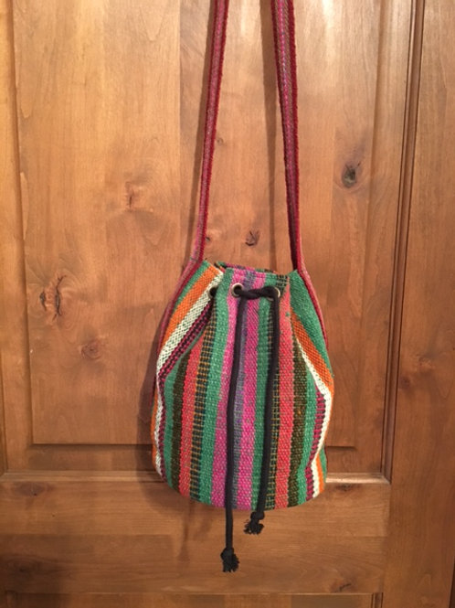 boho bag-dusty jade & pink