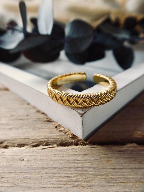 GOLDENER BASIC RING (GRÖSSENVERSTELLBAR)