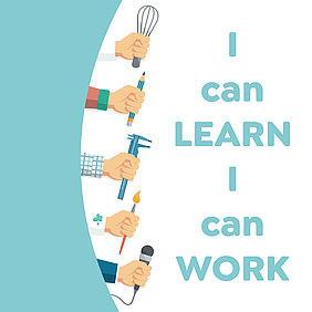 I  can learn. I can work - Ich kann lernen. Ich kann arbeiten. - Welt-Autismus-Tag
