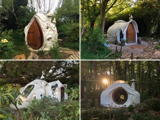 4 sculptures pour un habitat. Chaque Kerterre, son usage : une dizaine de Kerterre dans un jardin jungle pour une maison qui bouscule les limites intérieure / extérieure.