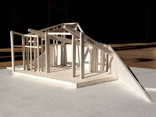 Maquette de recherche réalisée par l'architecte Tristan Gaboriau.