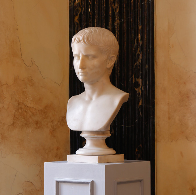 Neoclassical marble bust