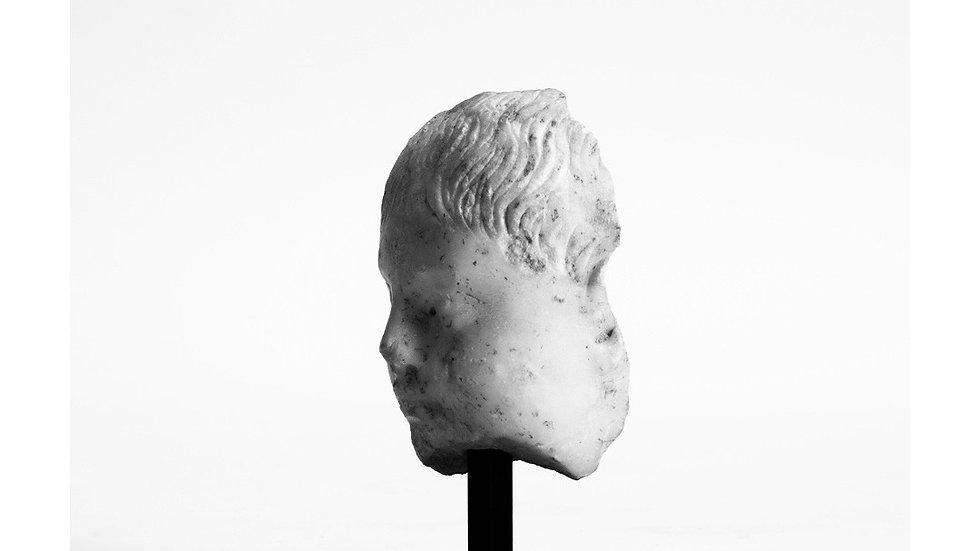 Roman marble face.