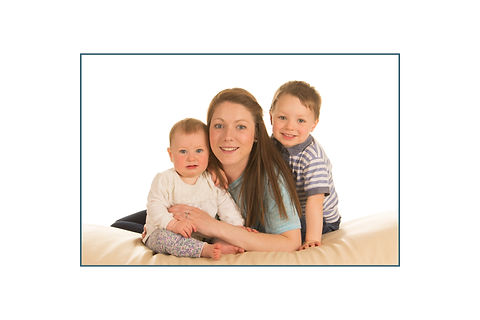Colourful life family portrait
