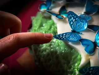 Alys's butterfly cake.