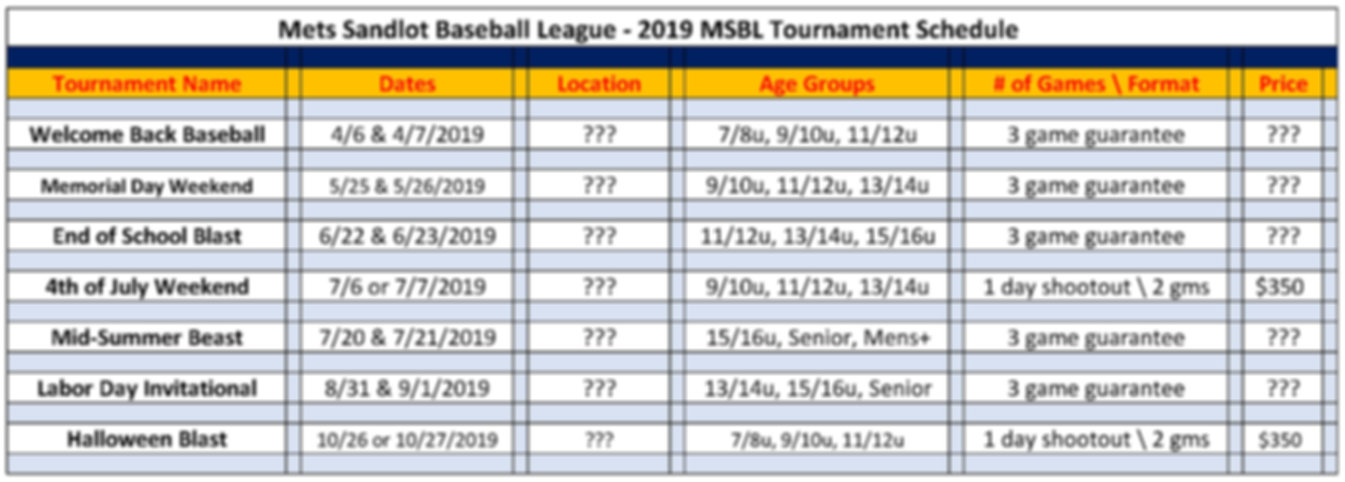 2019 MSBL Tournament Schedule 12 12 2018