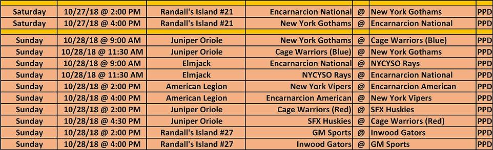 2018 Fall NYCE 15-16-17u Schedule 10 27
