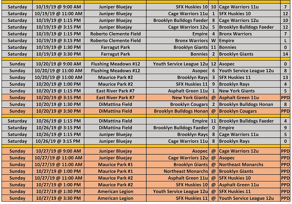 2019 Fall WYAL 11-12u Schedule p3 10.27.