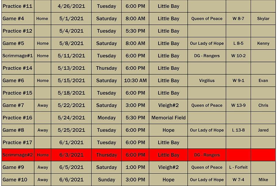 2021 St Lukes 6th Grade Schedule p2 0606