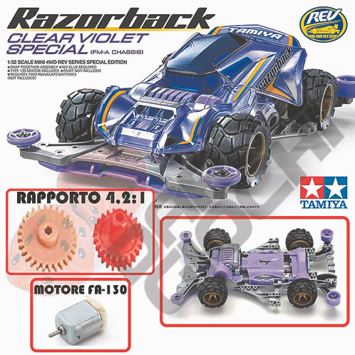 RAZORBACK Clear Violet Special ( FM-A Chassis) ITEM 95524