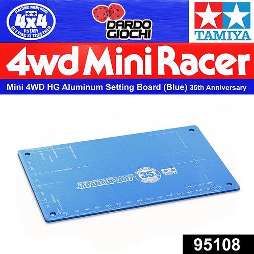 MINI 4WD HG Aluminum Setting Board (Blue) ITEM 95108