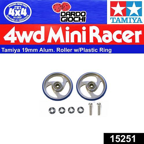 19mm Aluminium Roller w/Plastic Ring ITEM 15251