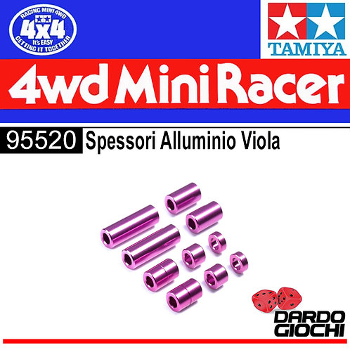 Aluminum Spacer Set (12/6.7/6/3/1.5mm, 2pcs)(PURPLE) ITEM 95520