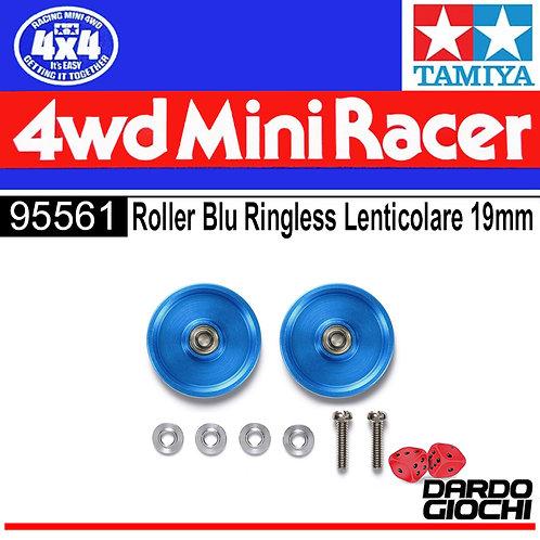 HG 19mm Aluminum Ball-Race Rollers (RinIgless/Blue)TEM 95561