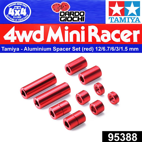 Aluminum Spacer Set (12/6.7/6/3/1.5mm 2pcs. Each) (Red) ITEM 95388