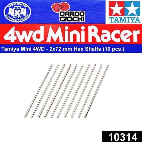 Mini 4WD 2x72mm Hex Shafts ( 10 pcs.) ITEM 10314