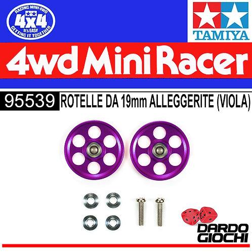 HG Lightweight 19mm Aluminum Ball-Race Rollers (Ringless/Purple) ITEM 95539