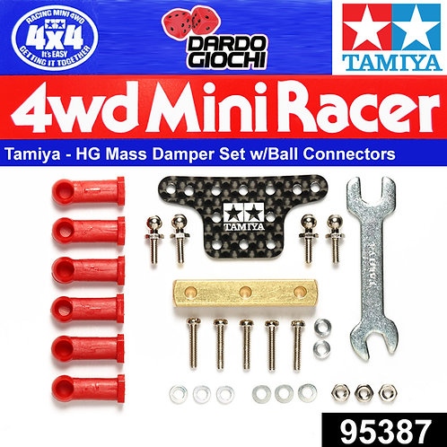 Mass Damper Set w/Ball Connectors (Block Weight/Carbon Plate) ITEM 95387