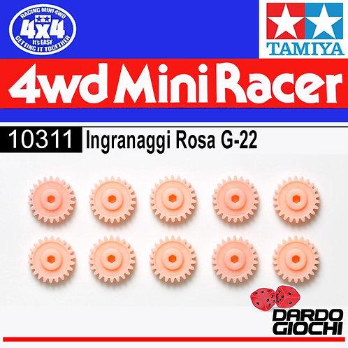 MINI 4WD PRO G-22 Gear (Pink/10pcs) ITEM 10311