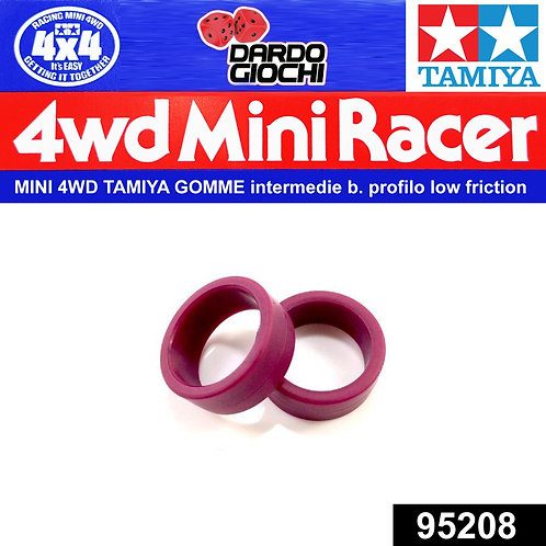 Low Friction Low Profile Tire ( Maroon , 2pcs. ) ITEM 95208