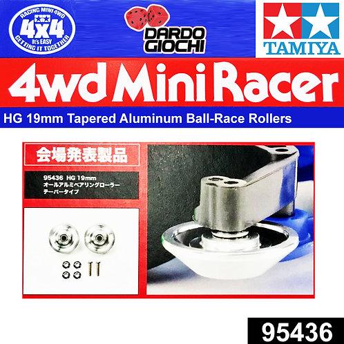 HG 19mm Tapered Aluminum Ball-Race Rollers (Ringless) ITEM 95436