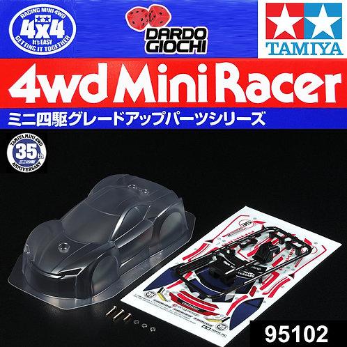 Mini 4WD 35th Anniversary Raikiri Clear Body Set ITEM 95102