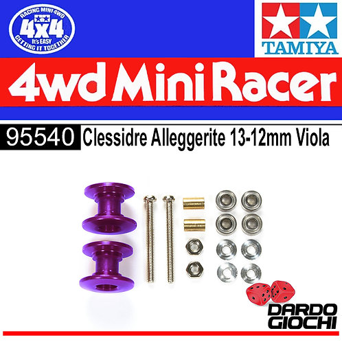 Lightweight Double Aluminum Rollers (13/12mm/PURPLE) ITEM 95540