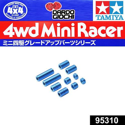 Aluminum Spacer Set (12/6.7/6/3/1.5mm 2pcs. Each) (blu) ITEM 95310