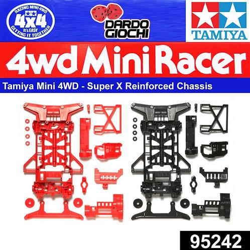 SUPER X REINFORCED CHASSIS SET (RED/BLACK) ITEM 95242