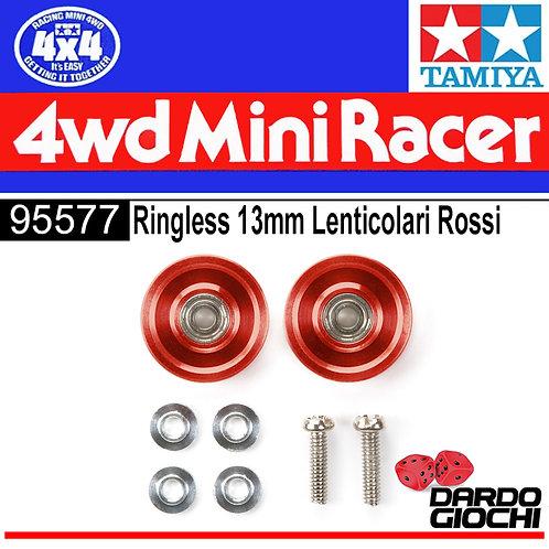 RINGLESS 13mm LENTICOLARI ROSSI ITEM 95577