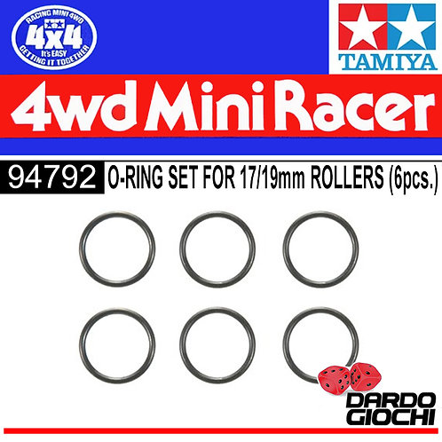 O-Ring Set For 17/19mm Rollers (6pcs.) ITEM 94792