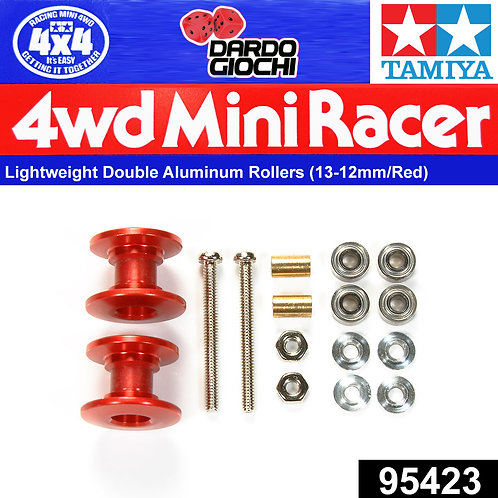 Lightweight Double Aluminum Rollers (13-12mm/Red) ITEM 95423