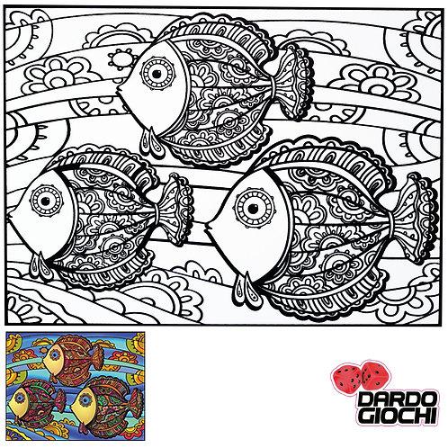 MANDSALA PESCI 47X35cm (12 colori in omaggio)